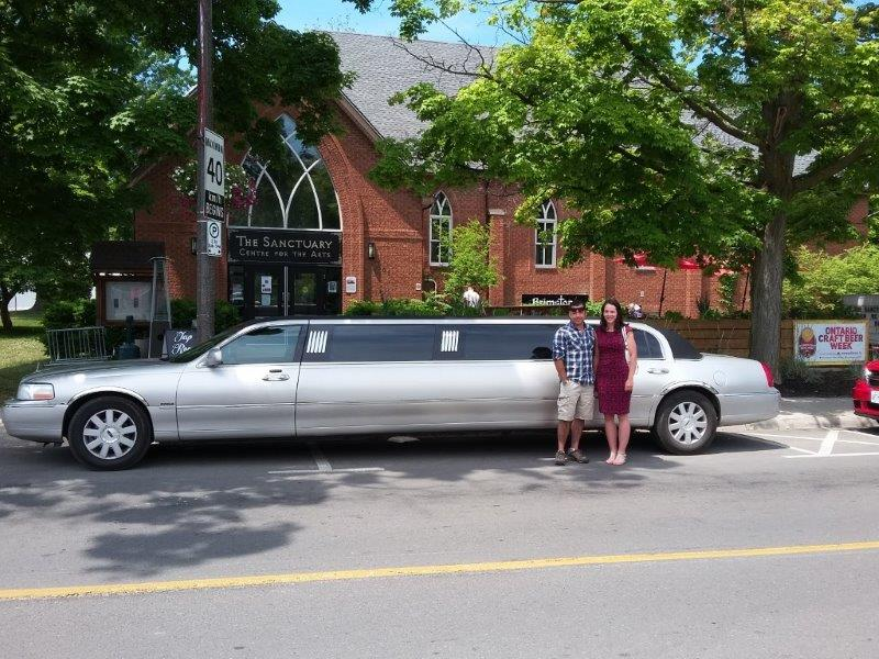 limousine in front of Brimstone