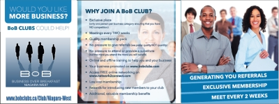 Bob Clubs Niagara West ad