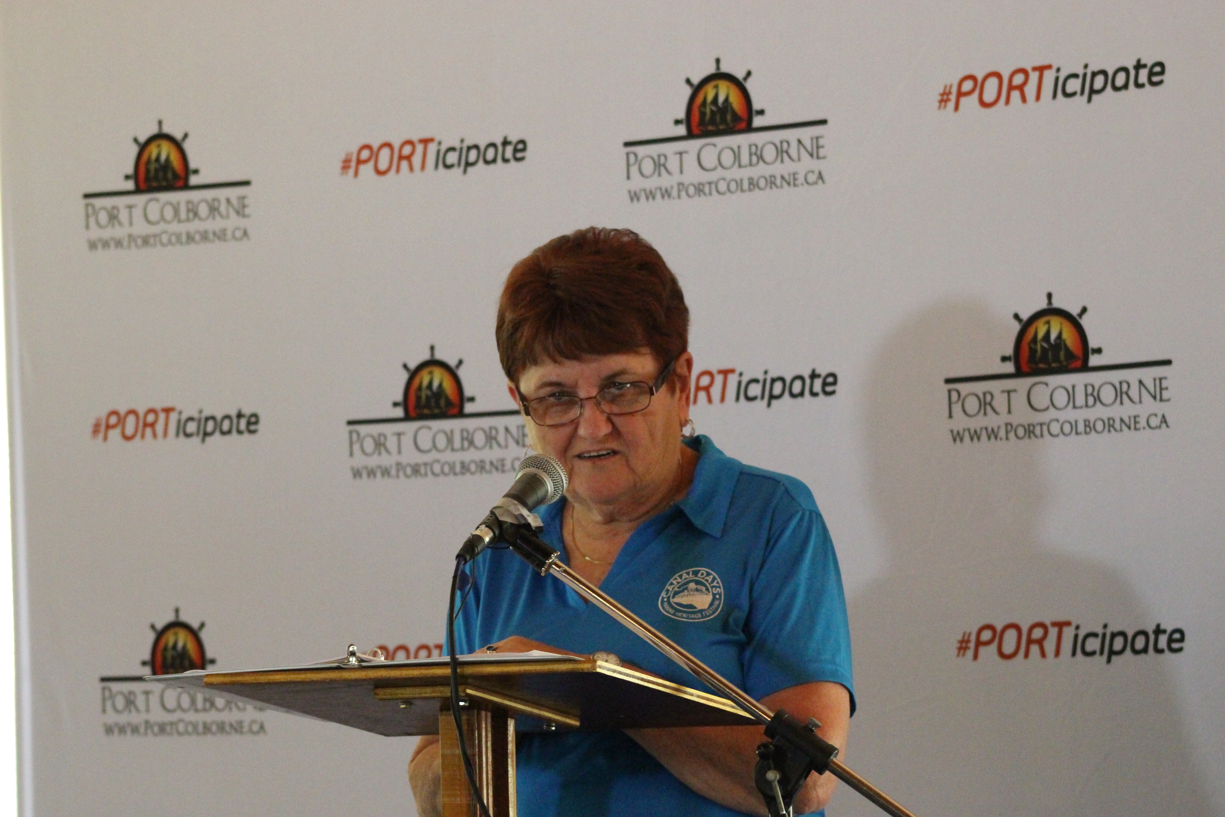 Bea Kenny announcing Summer fun in Port Colborne