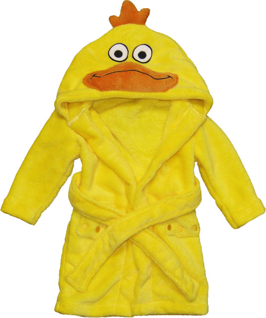 hooded childrens bathrobe