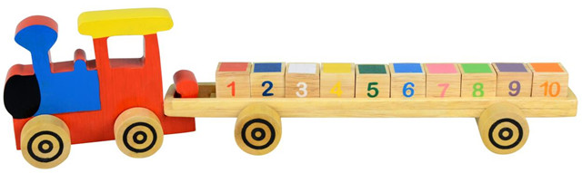 choo choo train and block set image for recall