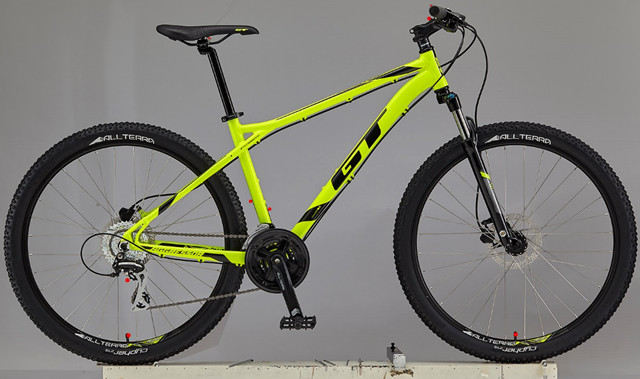gt mountain bicycle aggressor yellow