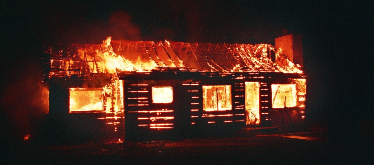 example of burning house