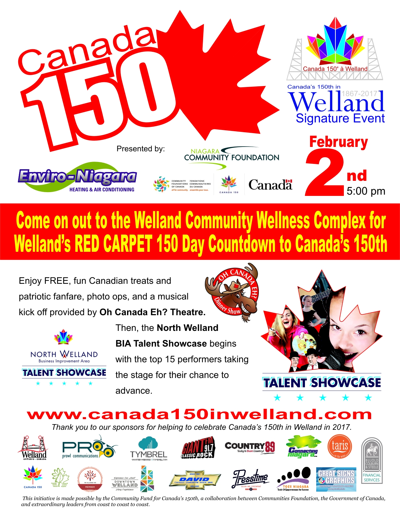 canada 150 in welland launch poster