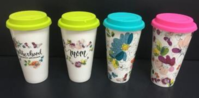 Celebrate It Ceramic Travel Mugs