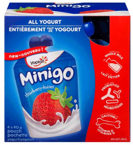 Yoplait minigo brand yogurt
