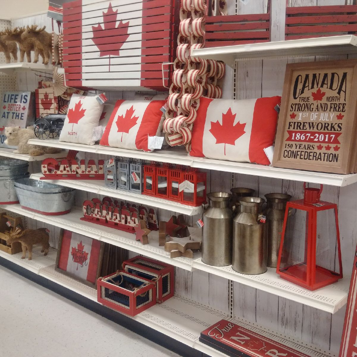 michaels canada day display