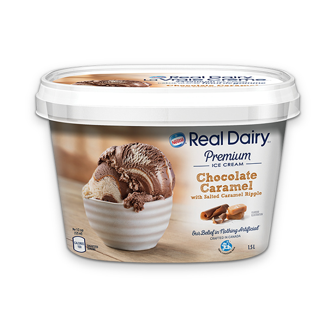 Nestle Real Dairy Chocolate Caramel with salted caramel ripple ice cream