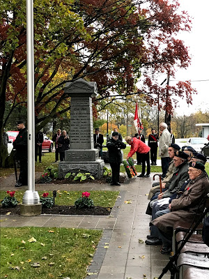 Old Pelham Town Hall Ridgeville Remembrance Day service