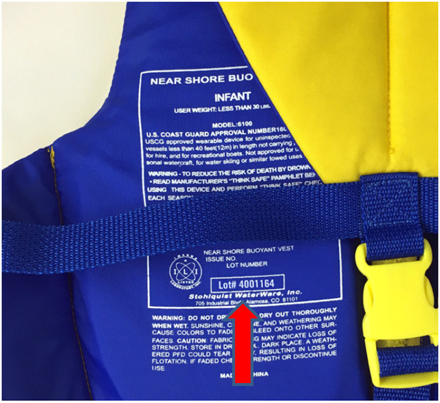 personal floatation device recall