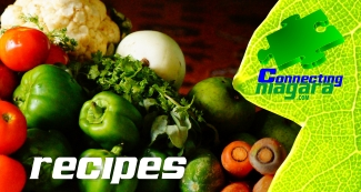 Recipes banner with vegetables