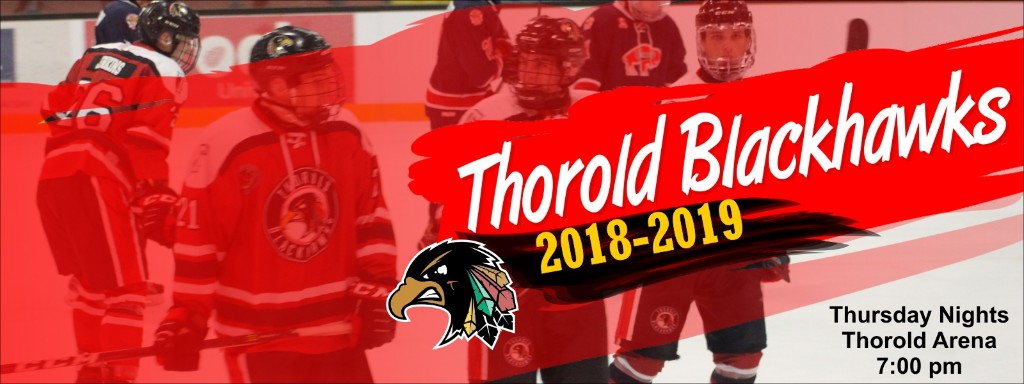 Thorold Jr B Blackhawks Hockey - title sponsor banner