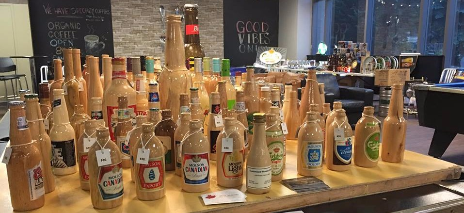 wooden beer bottle artisan
